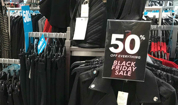 Black Friday offer uses reflex sign holder